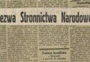 Odezwa Stronnictwa Narodowego w związku z agresją Niemiec na Polskę