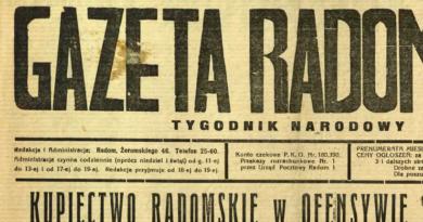 Gazeta Radomska – Tygodnik Narodowy: Kupiectwo radomskie w ofensywie