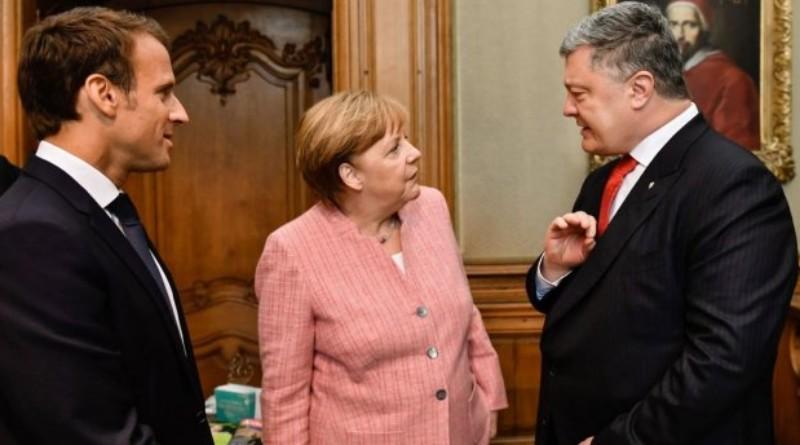 spotkanie Macron, Merkel, Poroszenko