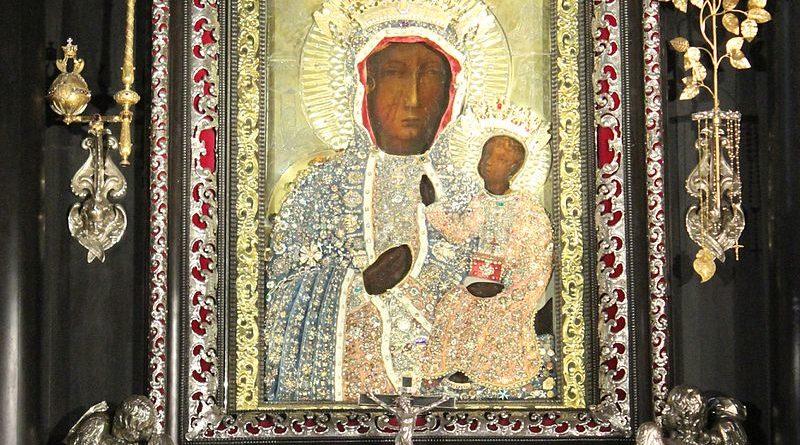 Bluźnierczy atak na Jasnej Górze! Nagi mężczyzna stanął przed obrazem Matki Bożej
