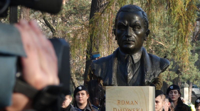 Odsłonięcie pomnika Romana Dmowskiego w Krakowie