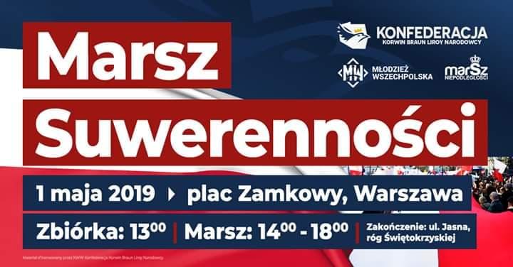 Wkrótce antyunijny Marsz Suwerenności - Znamy już trasę!