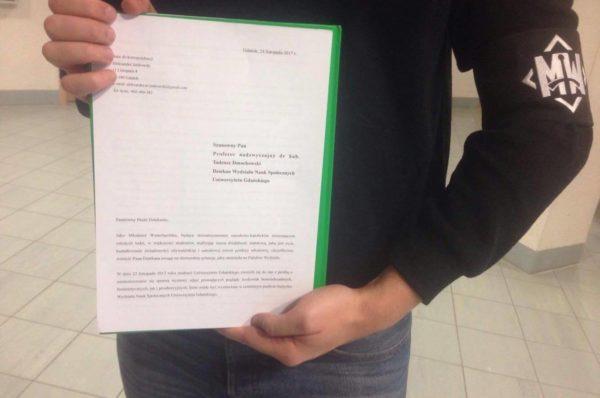 """Lewacka propaganda na Uniwersytecie Gdańskim – narodowcy odpowiadają: ,,Nie pozwolimy na to!"""""""