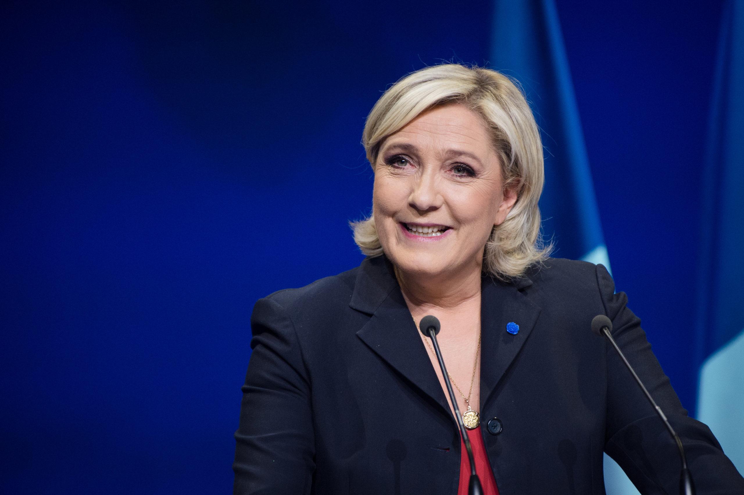 Marine Le Pen z rekordowo wysokim poparciem