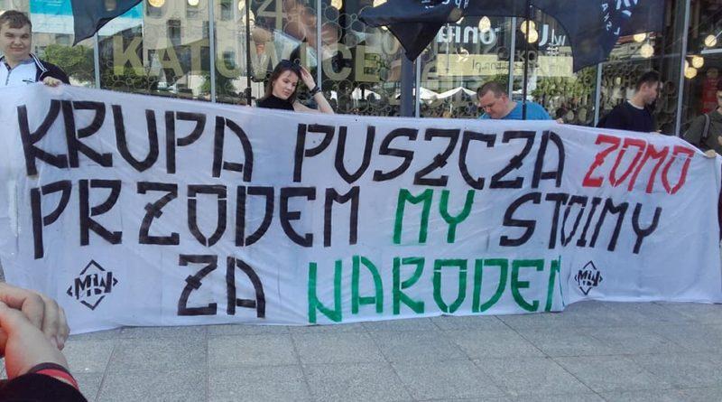 manifestacja pod um katowice