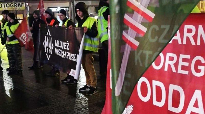 Manifestacja Młodzieży Wszechpolskiej i Ruchu Narodowego przeciwko COP24