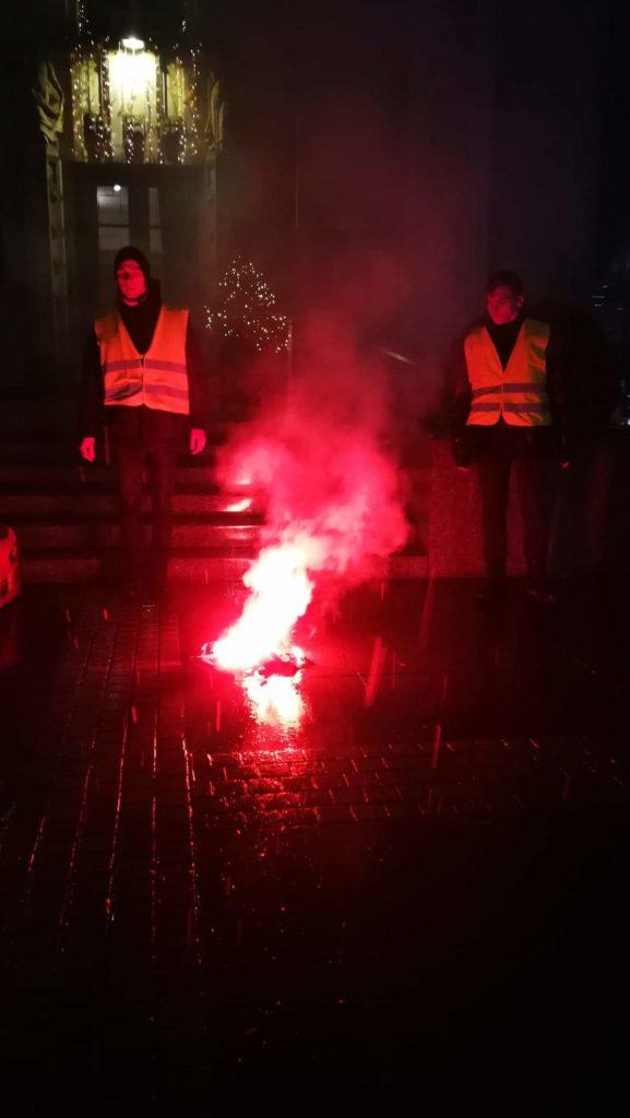 Ruch Narodowy i Młodzież Wszechpolska zorganizowały manifestację w obronie polskiego przemysłu węglowego