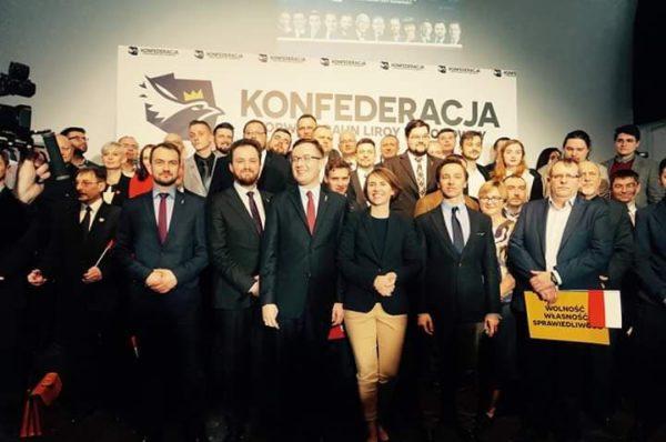 """Znamy wszystkie """"jedynki"""" Konfederacji w wyborach do Europarlamentu"""