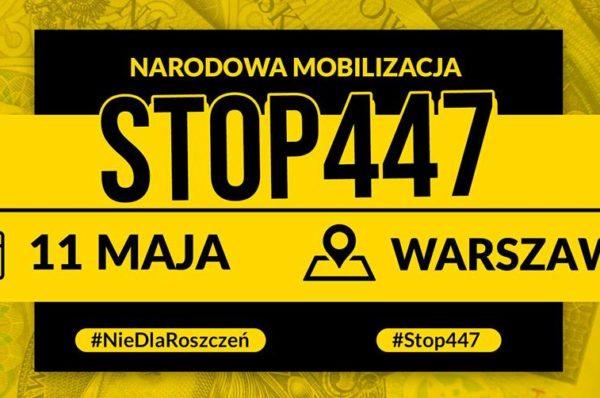 11 maja ulicami Warszawy przejdzie marsz STOP447