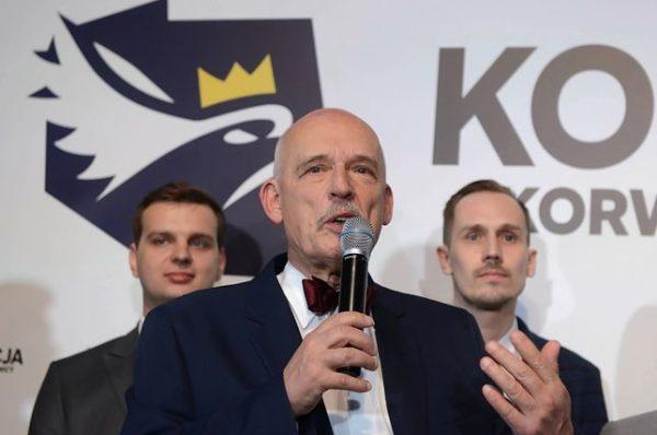 Janusz Korwin-Mikke sprzeciwia się wspieraniu Polaków na Białorusi. Celna riposta posła Kamińskiego