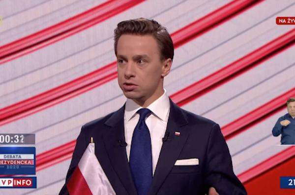 Krzysztof Bosak najlepszy w debacie prezydenckiej i z największym wzrostem zaufania [+WIDEO]