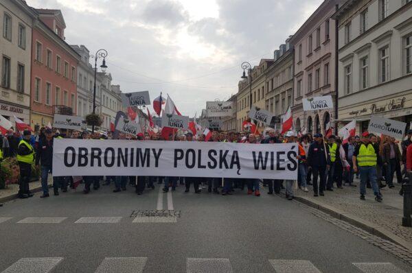 Rolnicy protestowali w Warszawie. Ardanowski: Zdecydowano się na wojnę z polską wsią