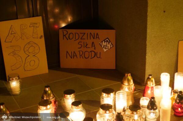 Młodzież Wszechpolska nadała sens akcji feministek