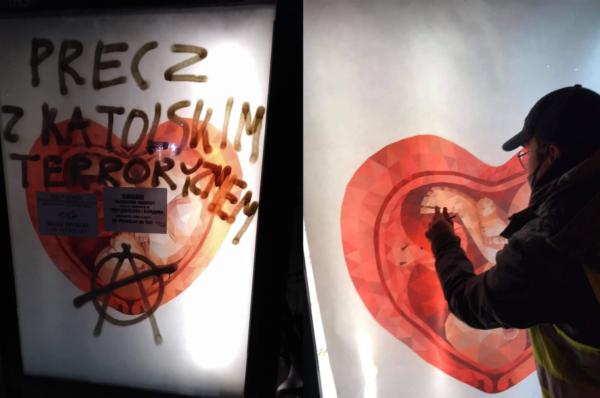 Gdynia: Młodzież Wszechpolska czyści zniszczone przez lewicę przystanki