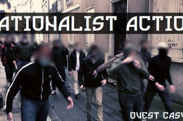 Antifa ucieka przed francuskimi nacjonalistami i szuka pomocy u policji [+WIDEO]