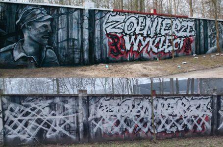 Mural upamiętniających Żołnierzy Niezłomnych w Łodzi został zniszczony