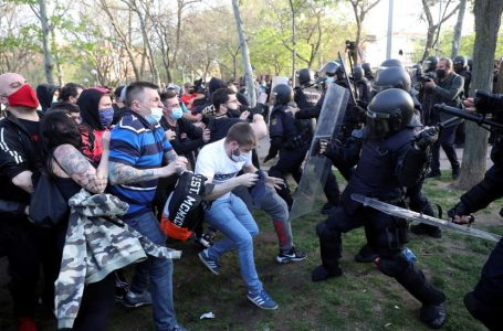 Atak skrajnej lewicy podczas wiecu partii Vox w Madrycie