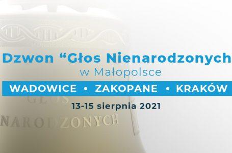 """Dzwon """"Głos nienarodzonych"""" od 13 do 15 sierpnia w Małopolsce"""